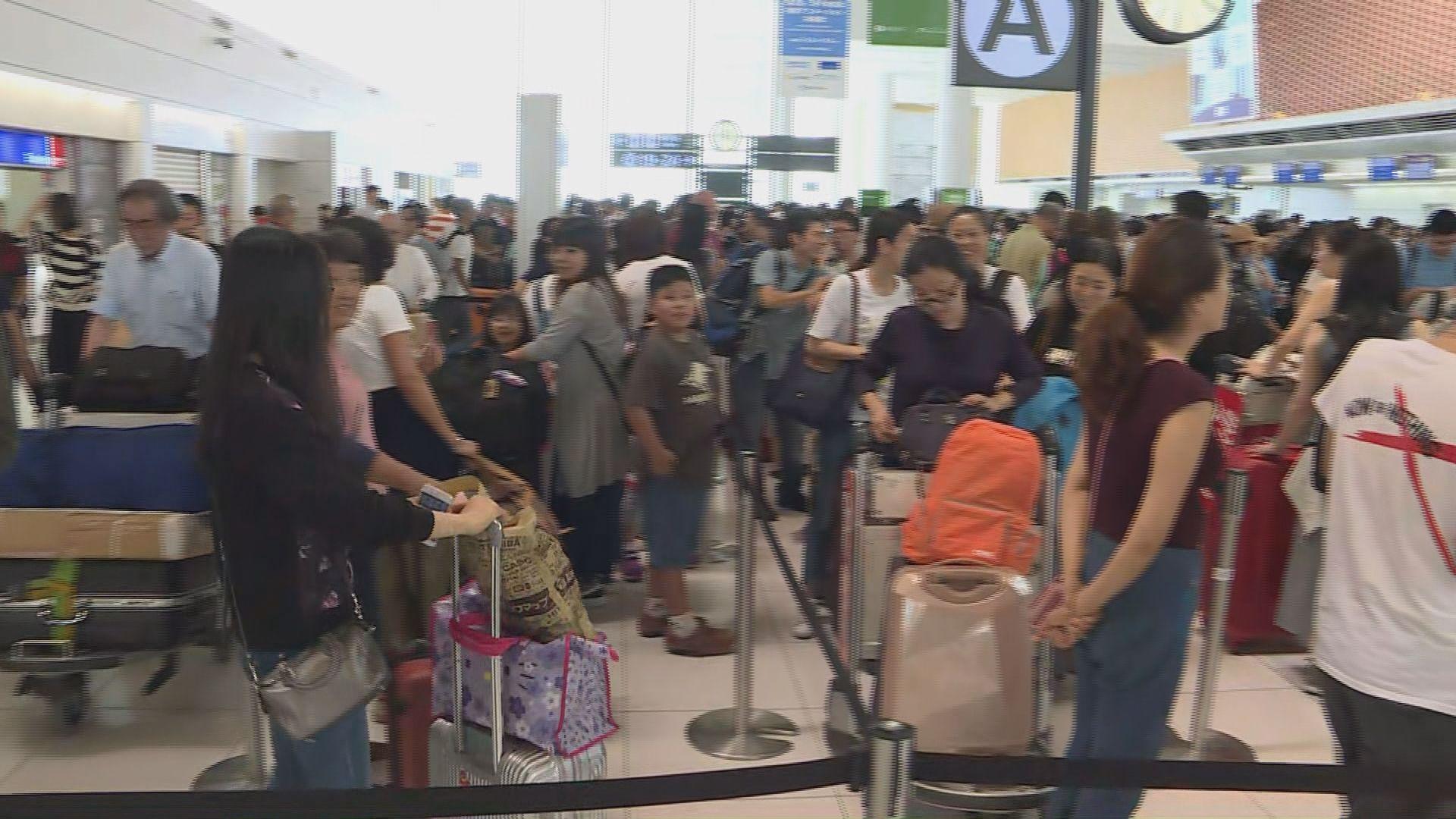 新千歲機場重開 有旅行團獲安排機位返港