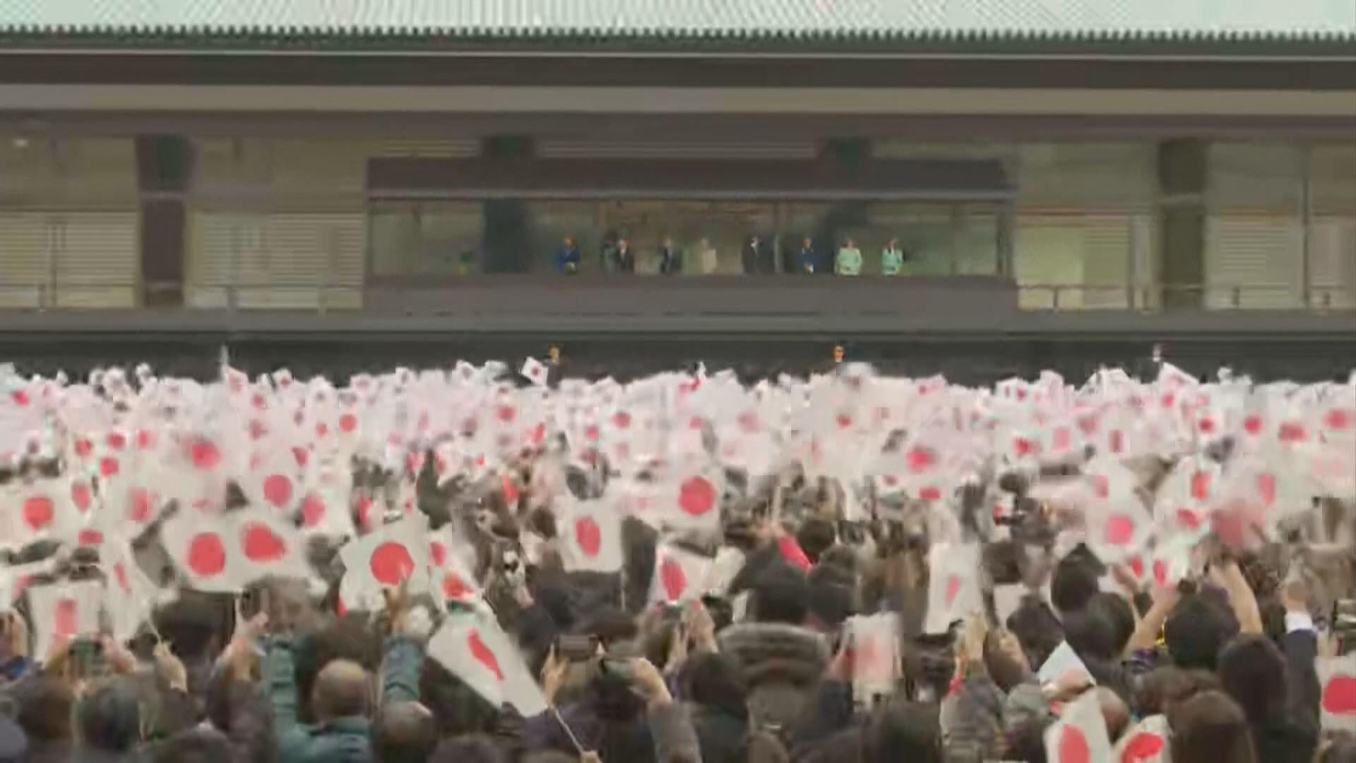 約五萬七千人到東京皇宮為日皇明仁祝壽