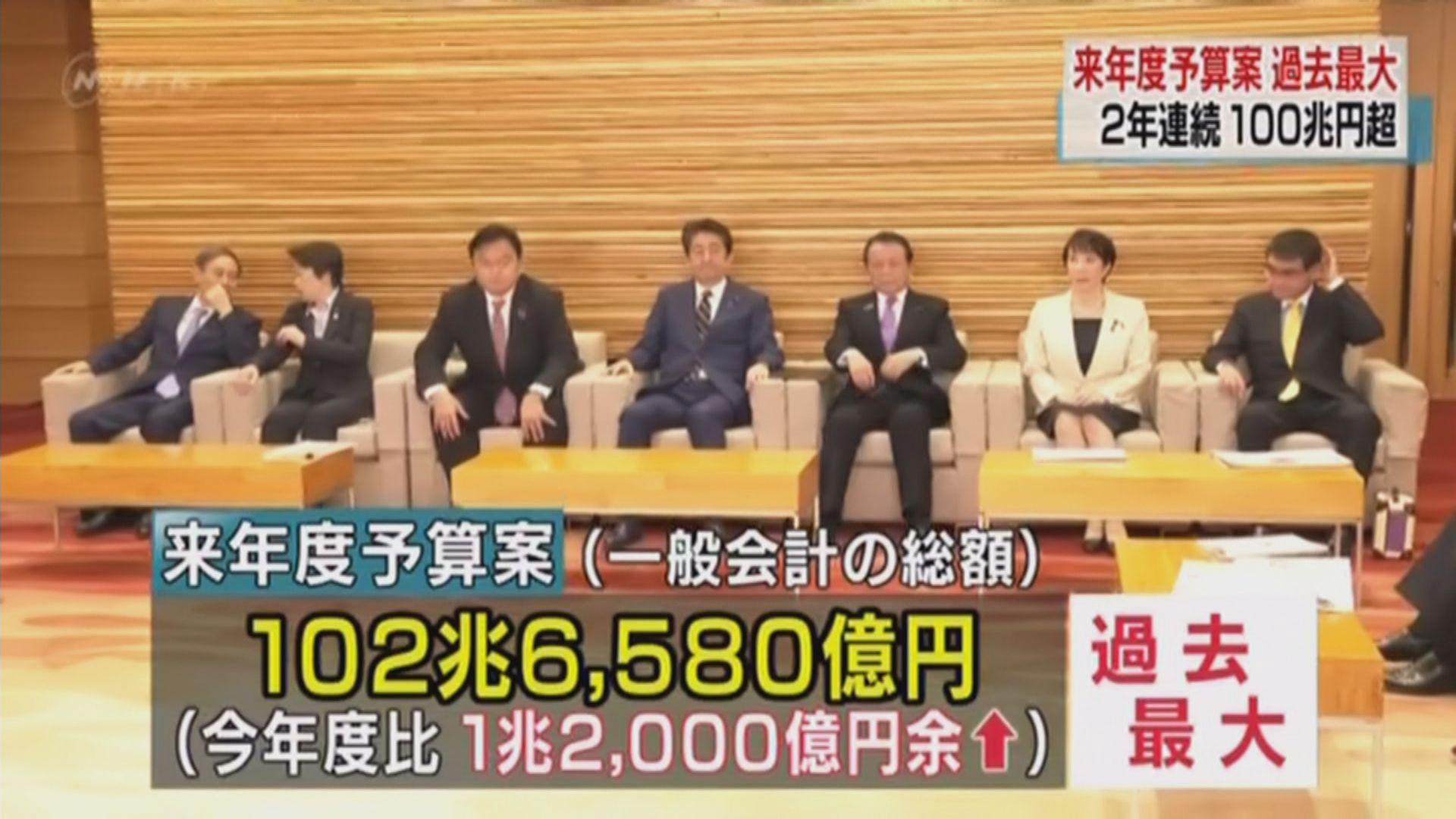 日本明年防衛開支再創新高