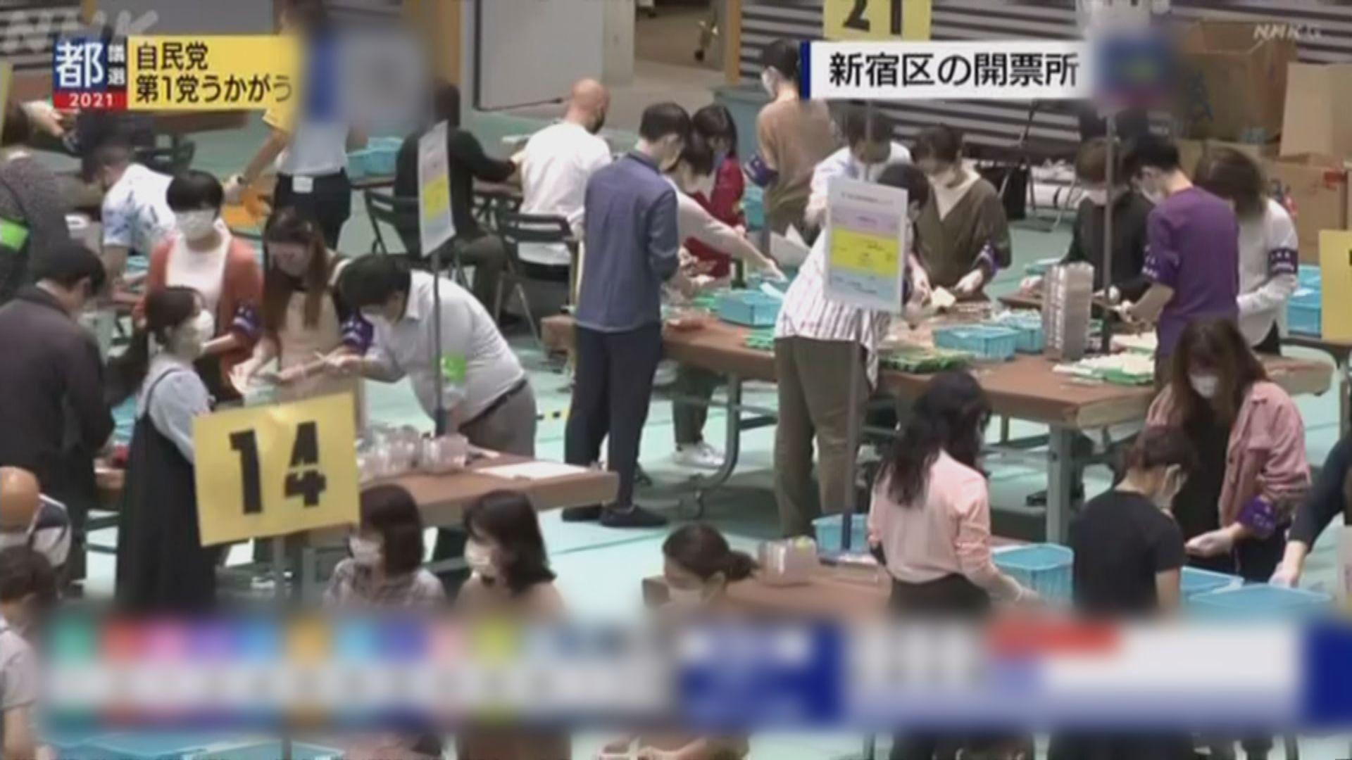 東京都議會選舉自民公明聯盟未能取得過半數