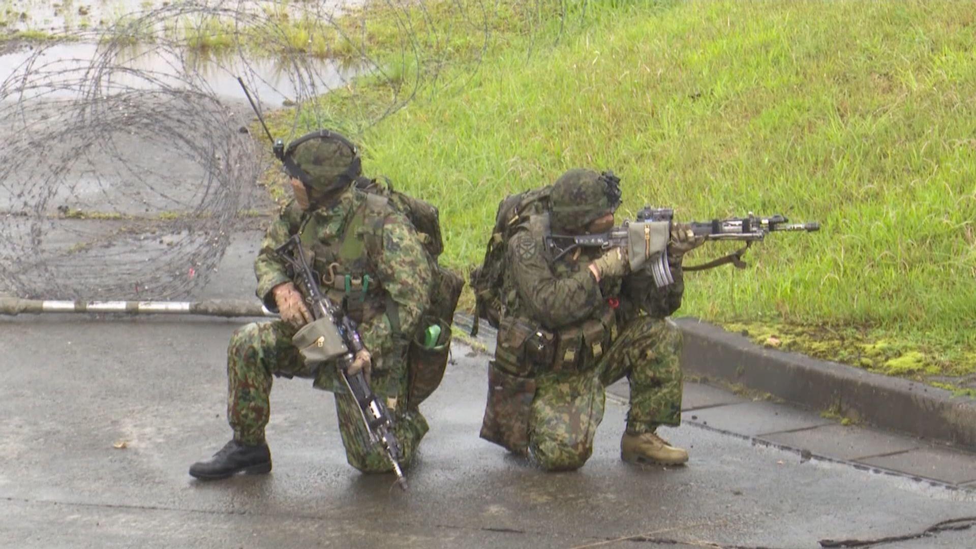 日美法首度於日本舉行防衛聯合訓練