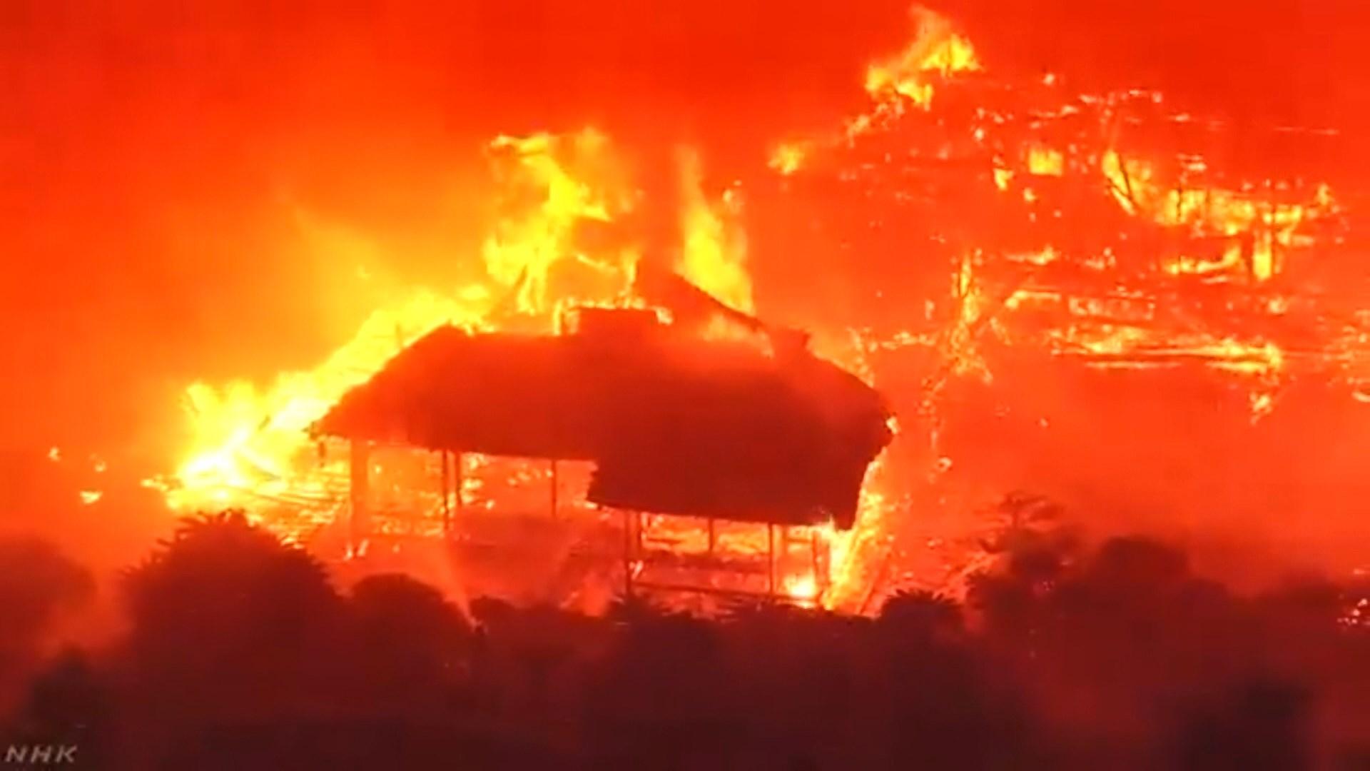 日本文化廳派員了解首里城防火設施