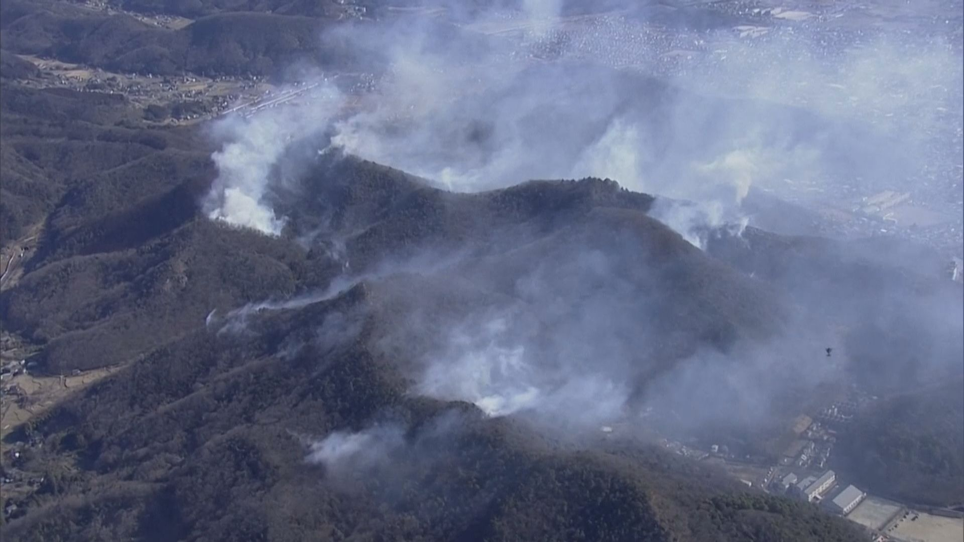 日本多處發生山火 至少一人傷