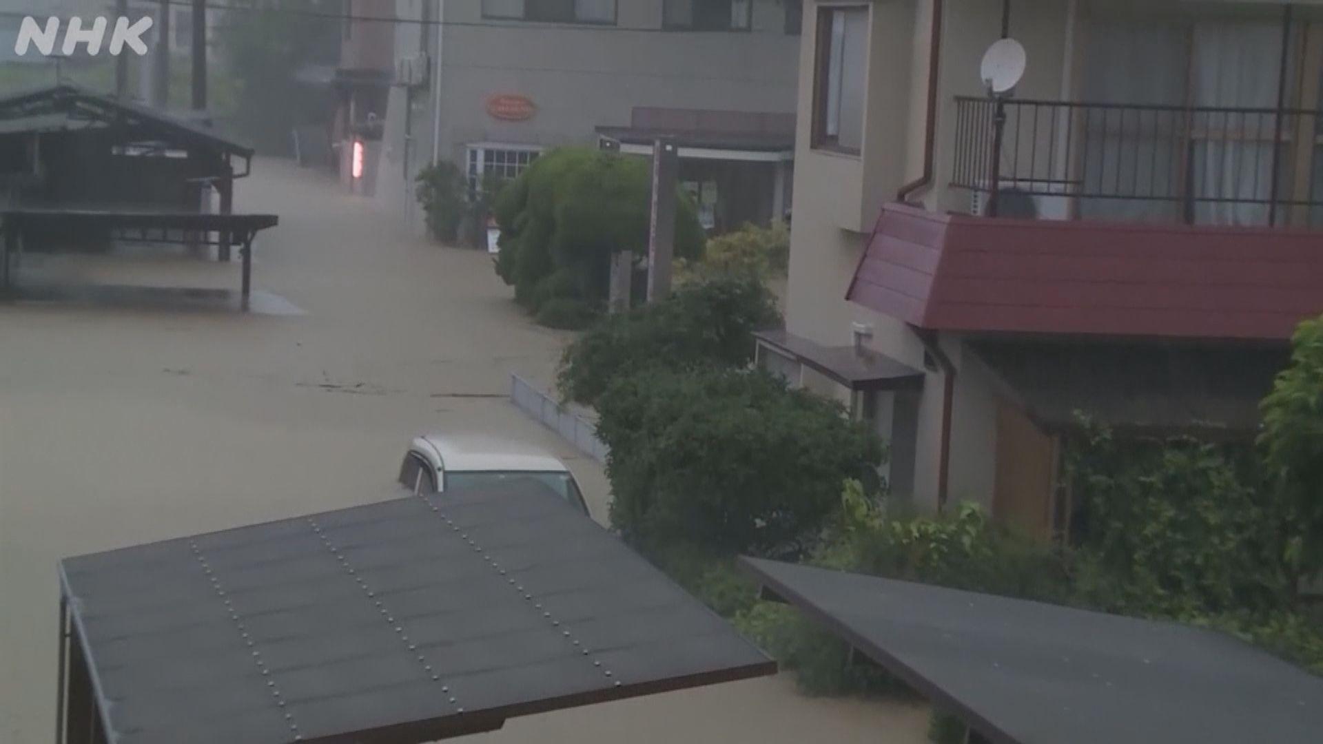 日本九州地區暴雨成災多人失蹤