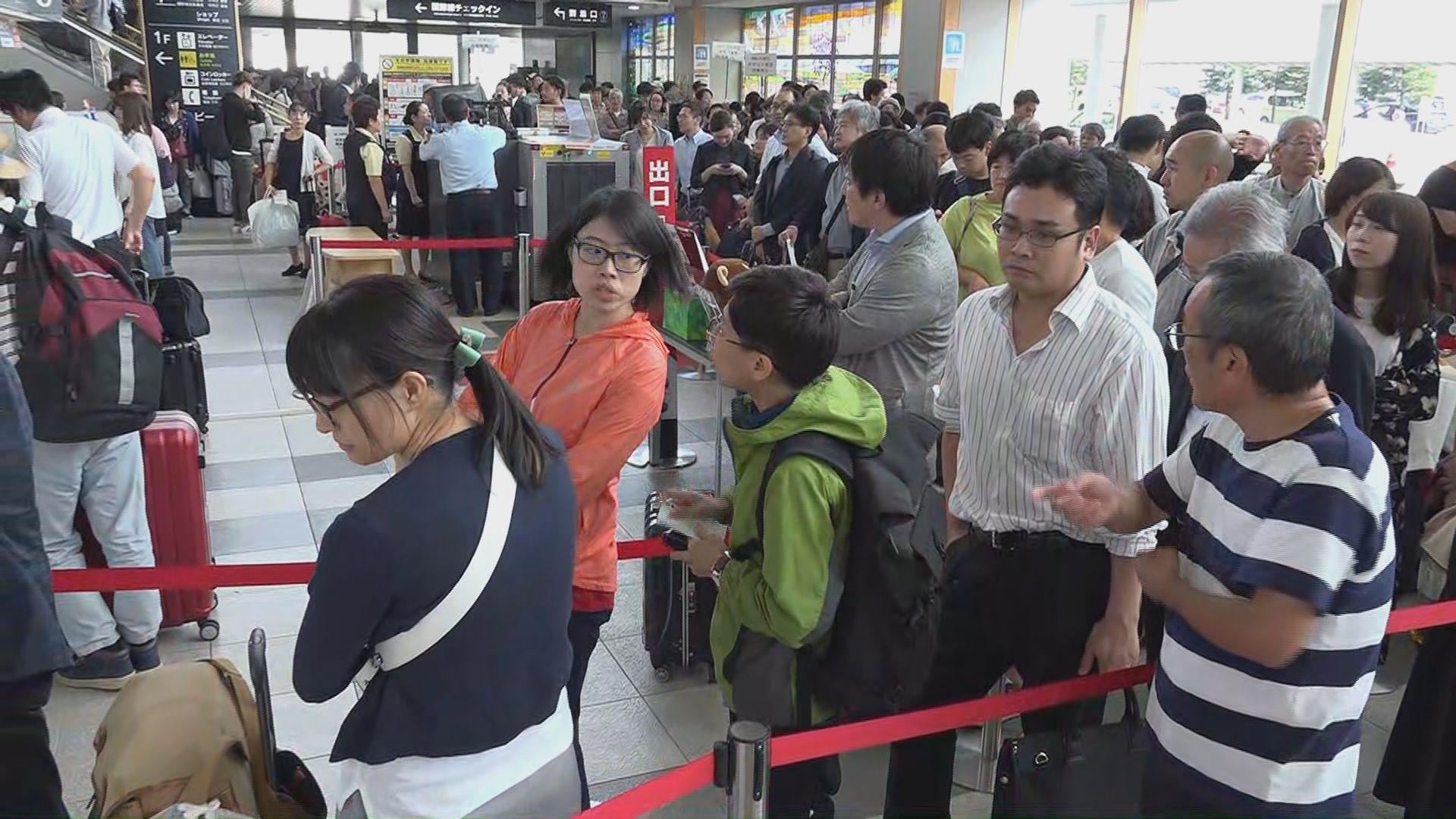 有港人轉到旭川機場盼盡快離開北海道