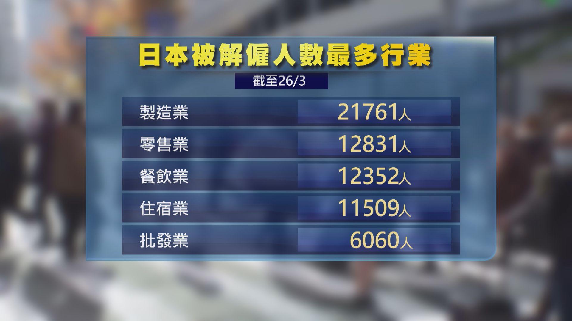 日本因疫情遭解僱人數累計近10萬 自由職業者一年內增逾五成