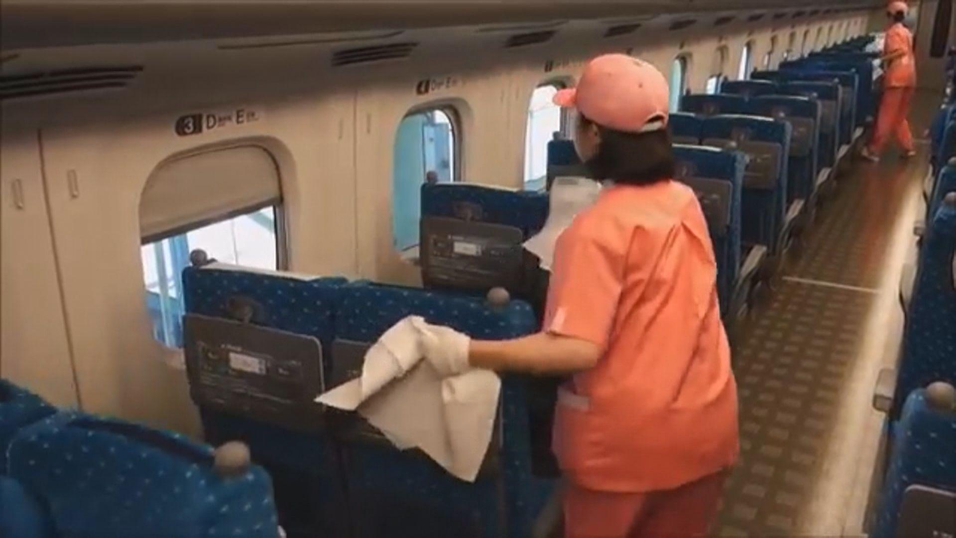 日鐵路公司將縮短打掃列車時間