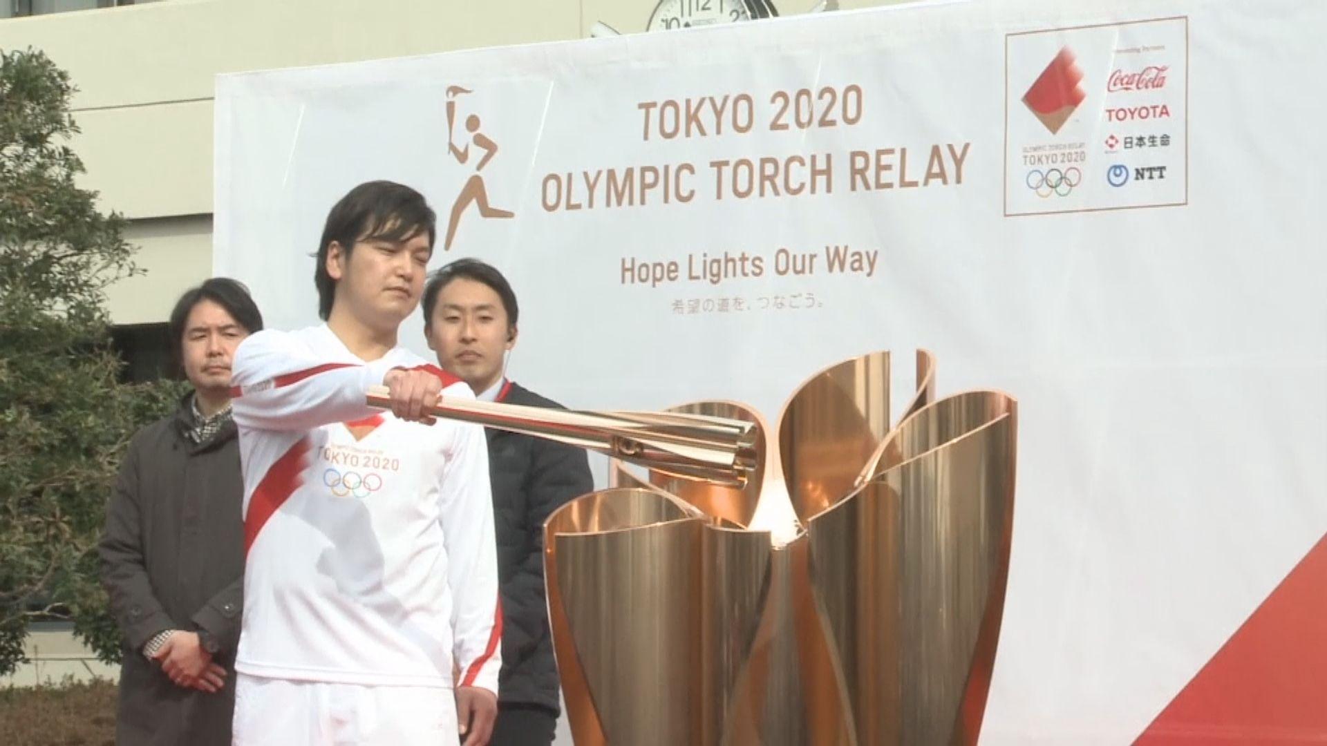 東京奧運為聖火傳遞綵排