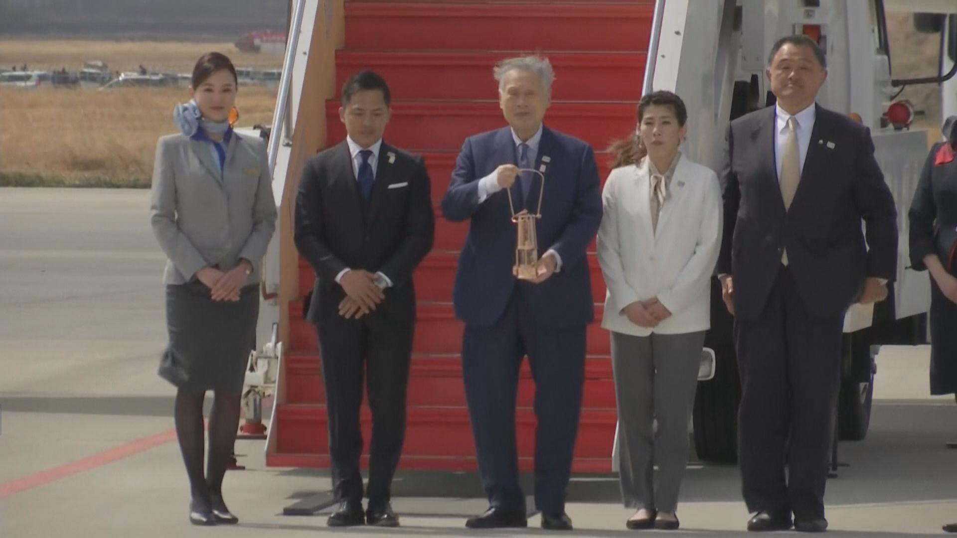 東京奧運聖火運抵日本
