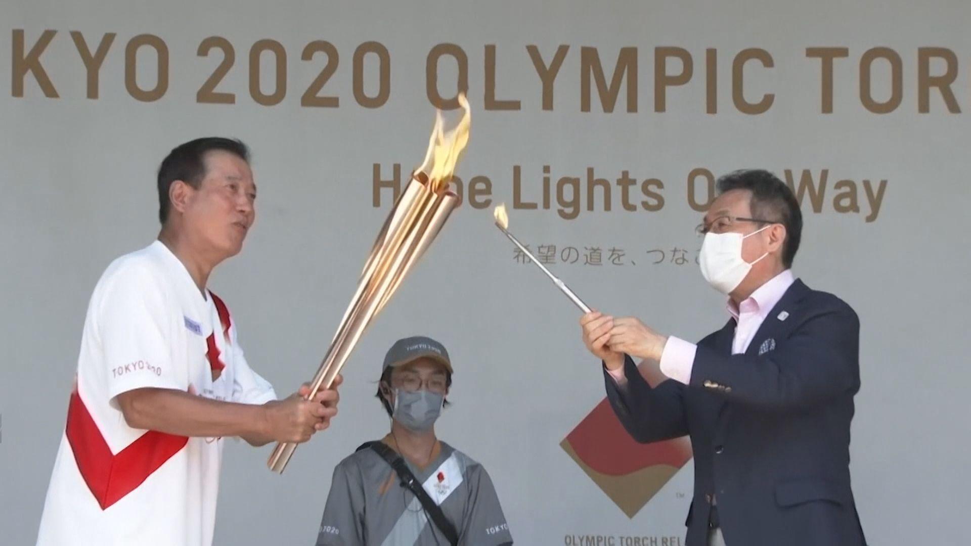 東京奧運今日開幕 東京都廳早上舉行聖火抵達儀式