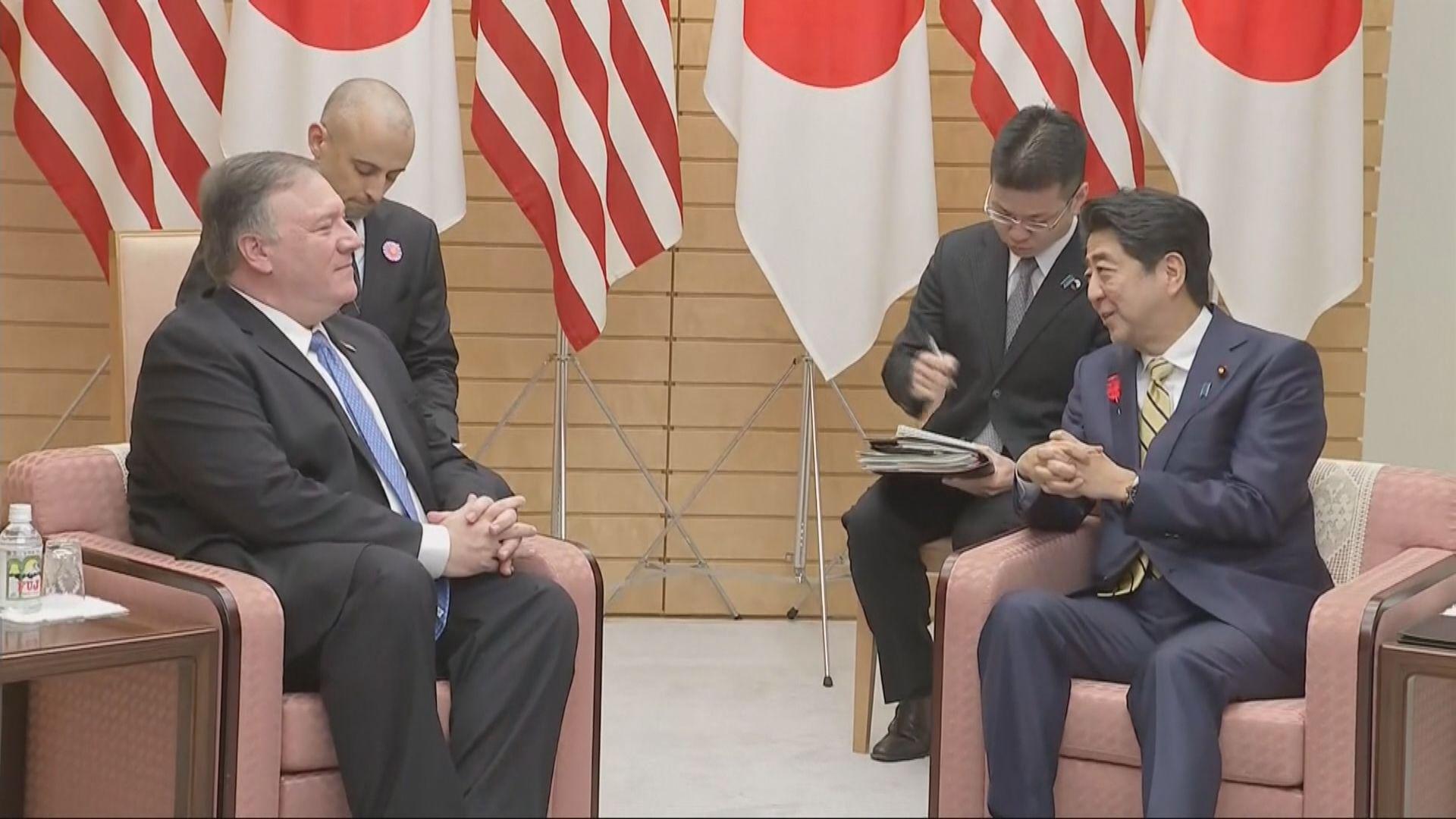 蓬佩奧抵達東京與安倍晉三討論北韓核問題