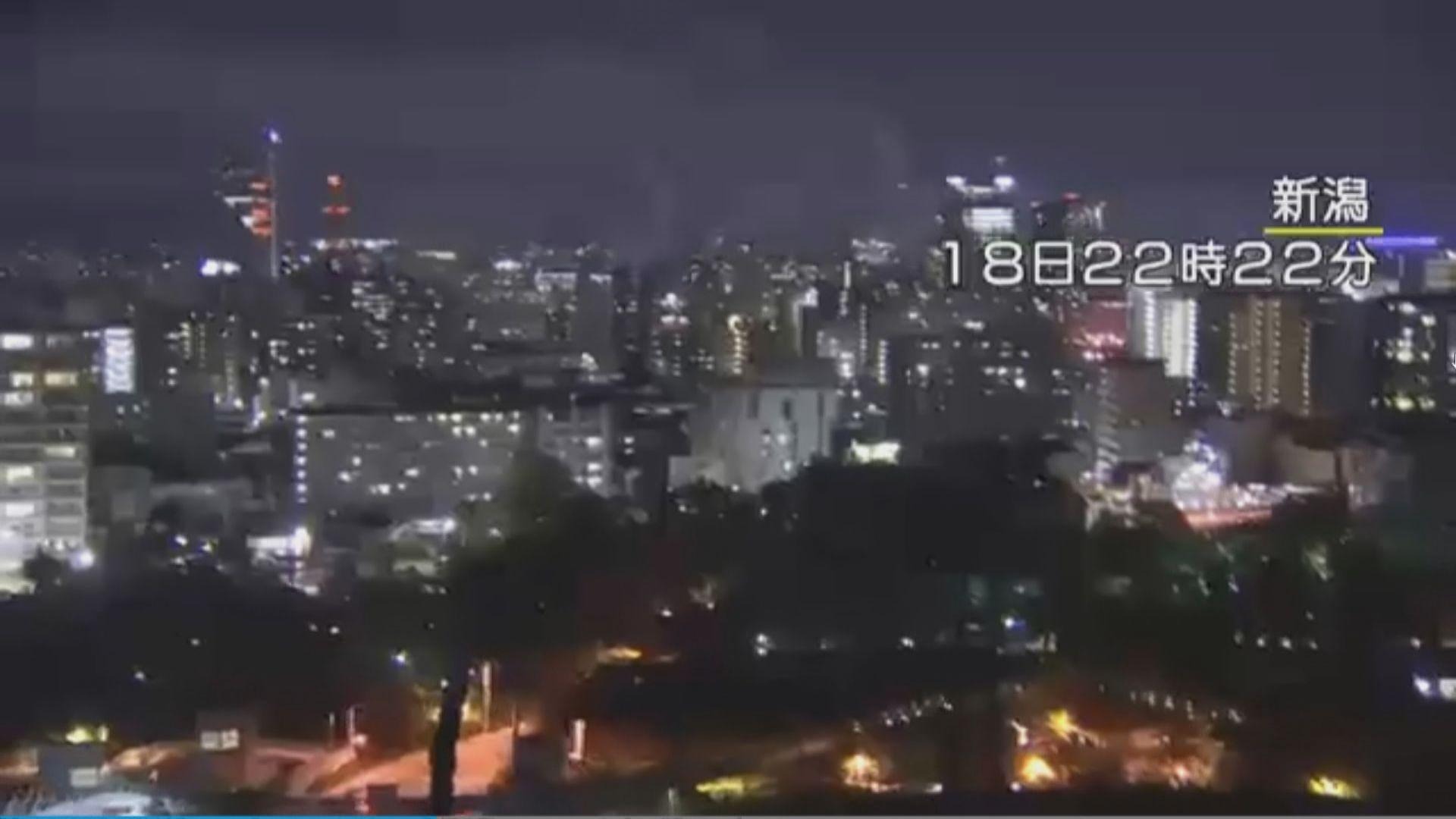 日本新潟6.8級地震 當地數千戶停電