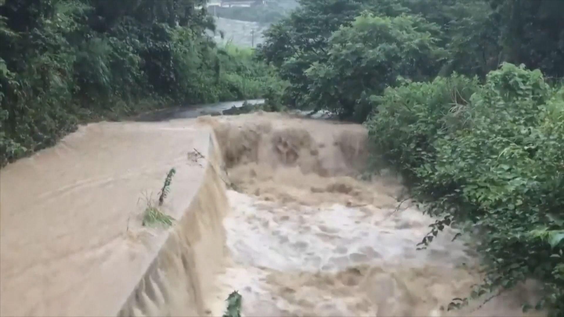 日本九州持續暴雨 造成多處山泥傾瀉泥石流