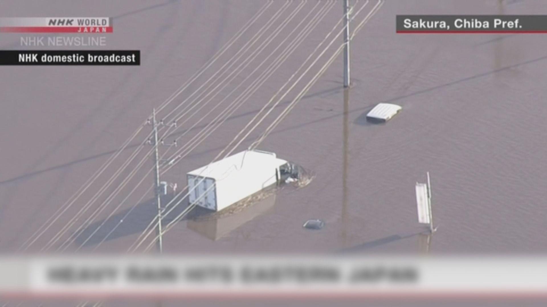 日本千葉縣暴雨成災至少八死