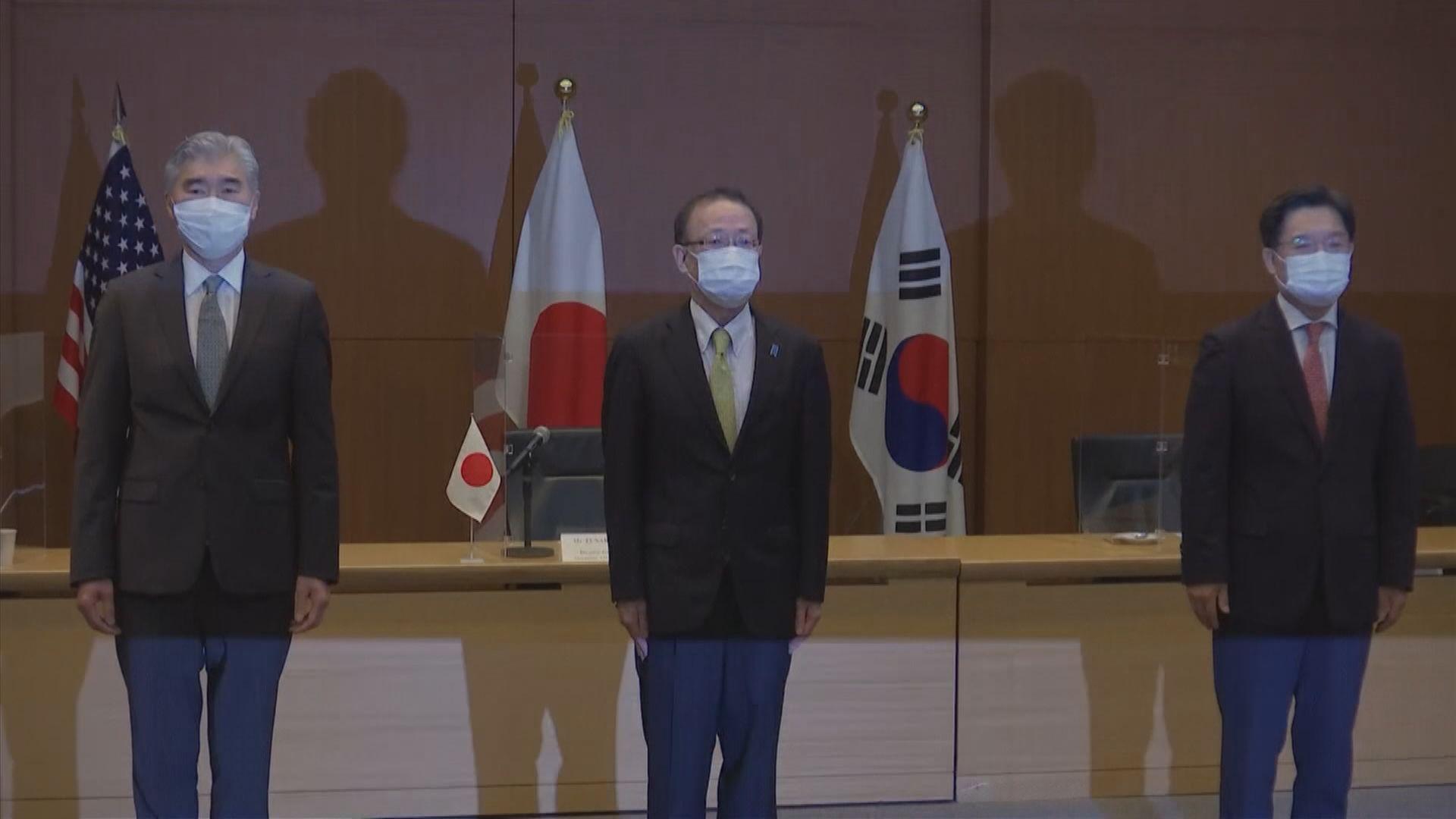 美日韓同意續以對話和外交手段推進朝鮮半島無核化