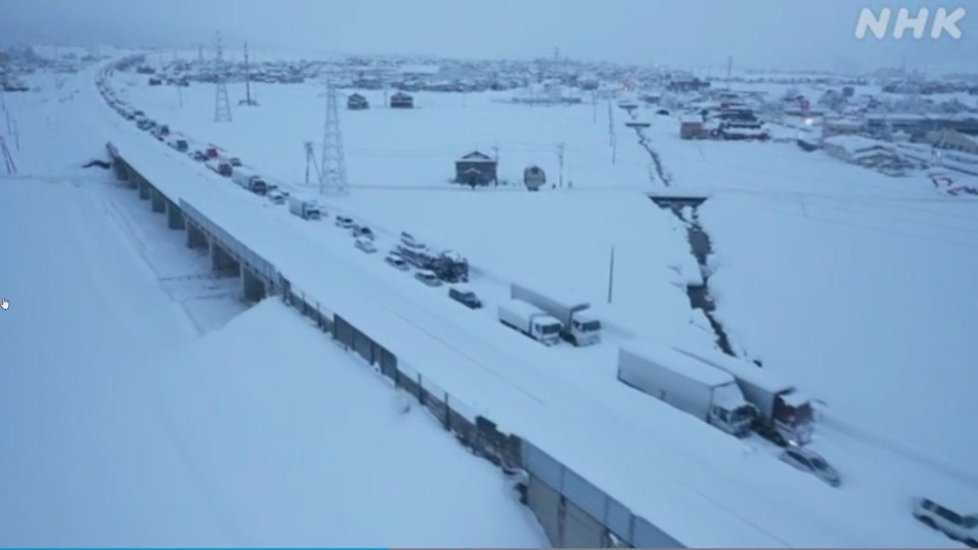 日本中部廣泛地區下暴雪 預計大雪會持續至周末