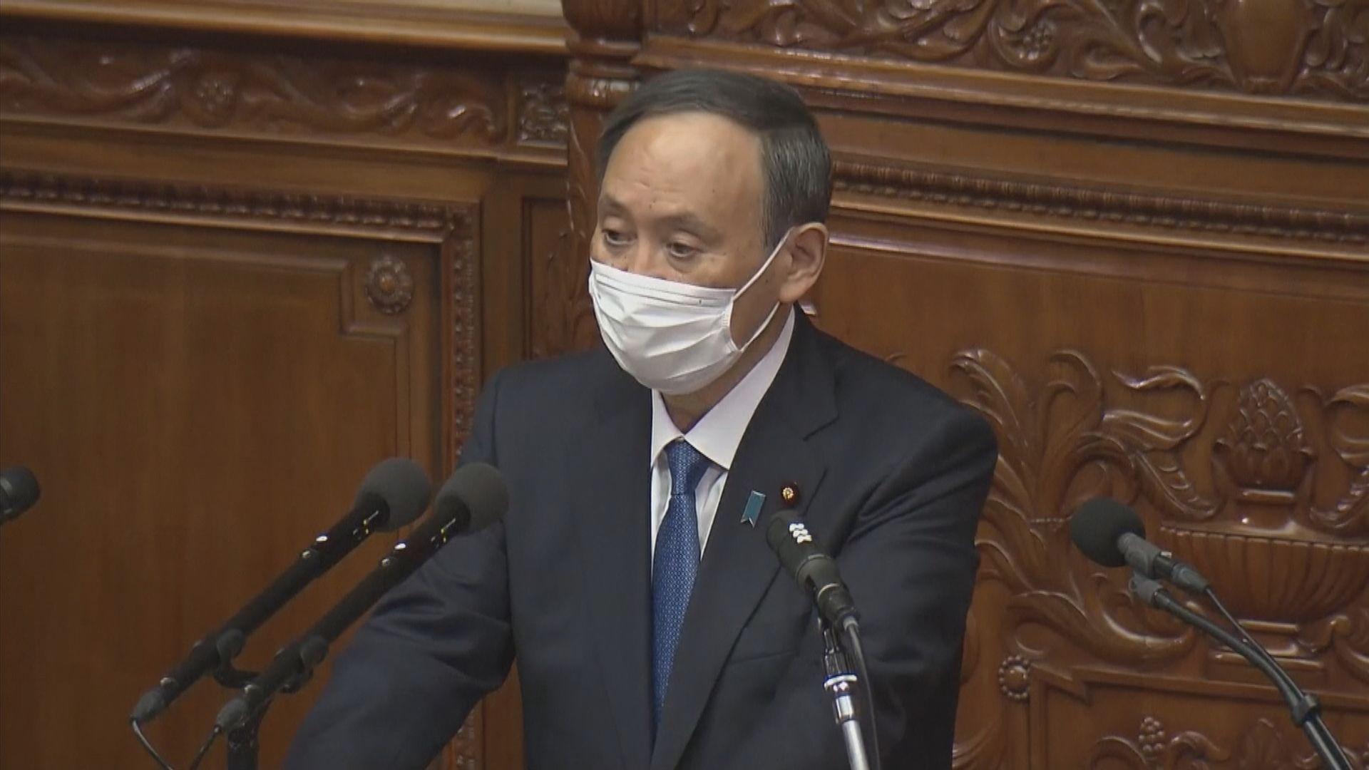 菅義偉稱會站在最前線對抗疫情 重申東京奧運如期舉行