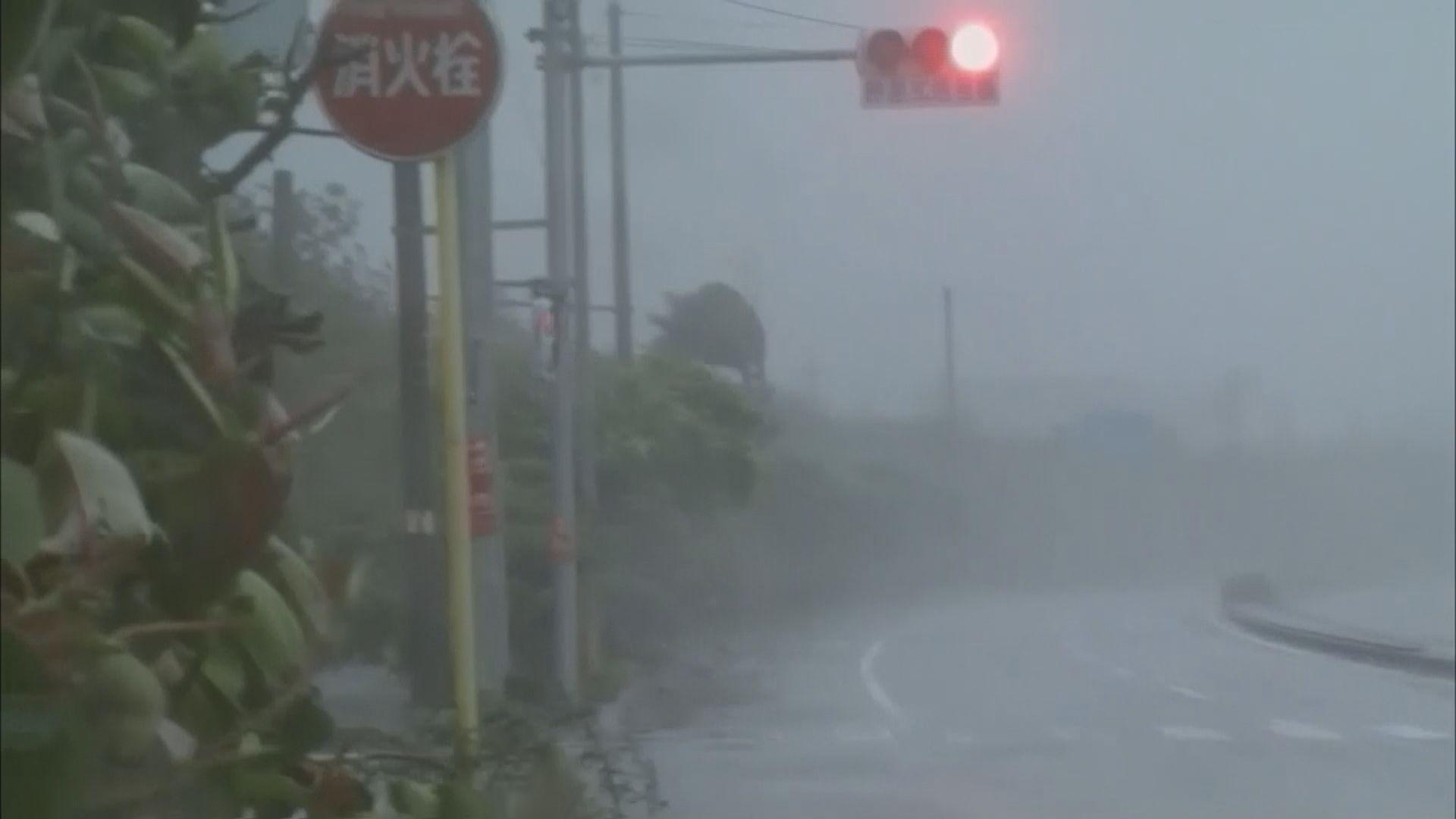 超強颱風美莎克掠過沖繩逼近九州