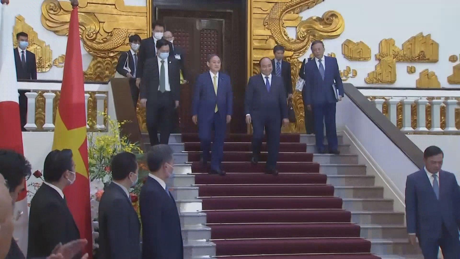 菅義偉晤阮春福 指堅決反對加劇南海緊張局勢行為
