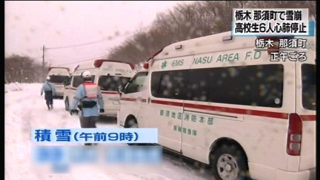 日一滑雪場雪崩最少六名學生死亡