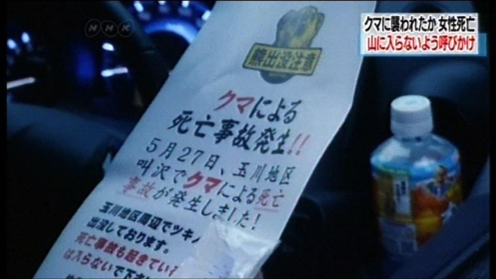 秋田縣一名女子遭熊襲擊喪生
