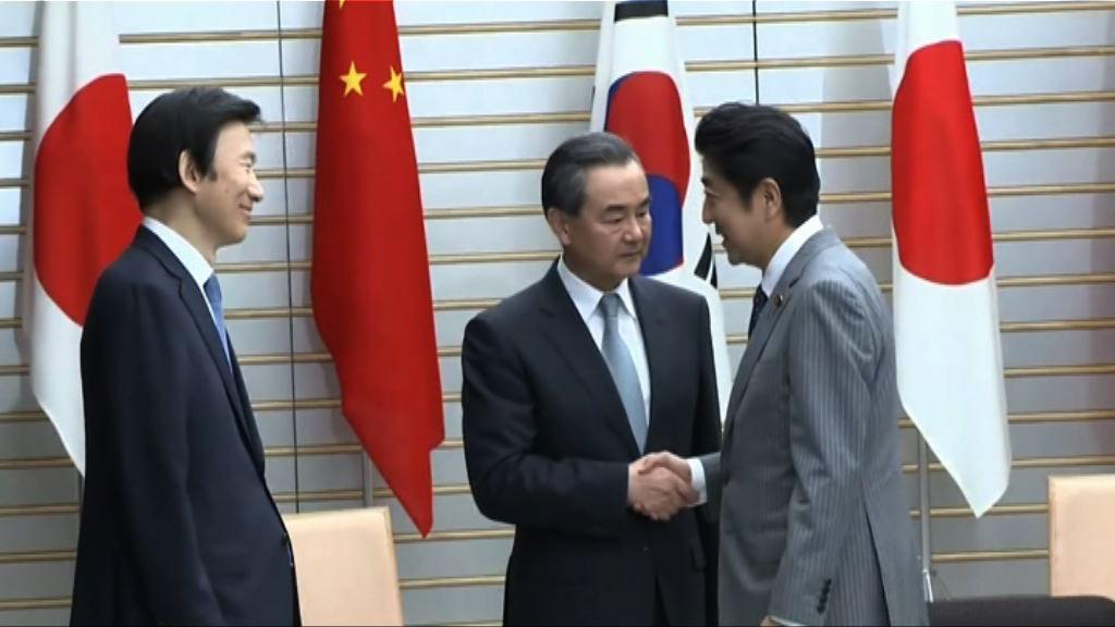 安倍冀年內實現中日韓首腦會談