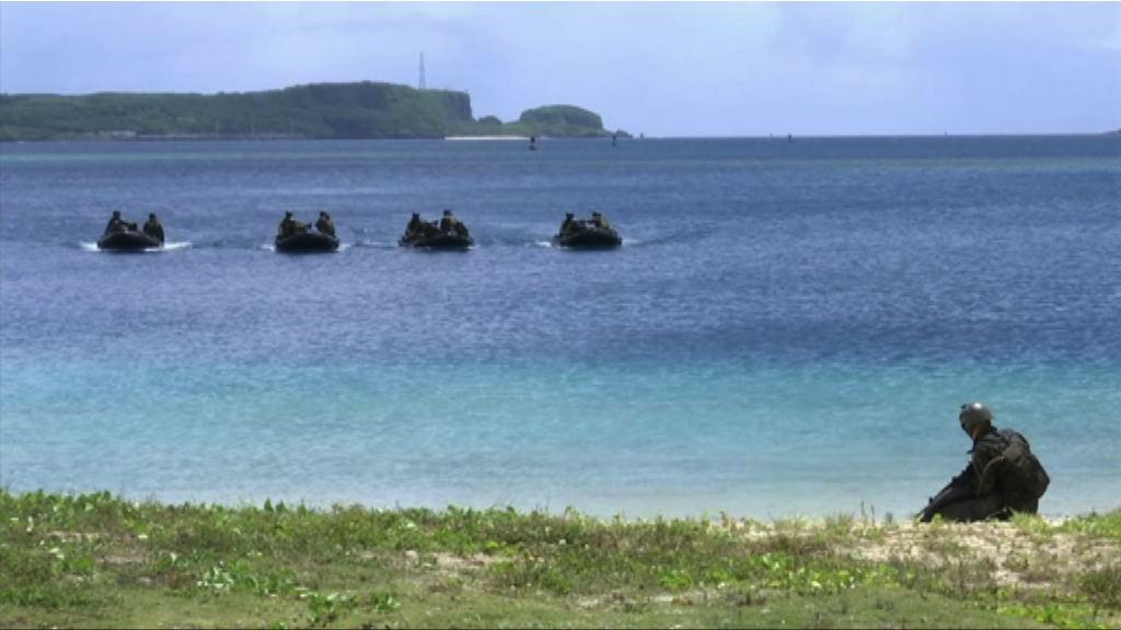 日本自衛隊在關島演習搶灘登陸