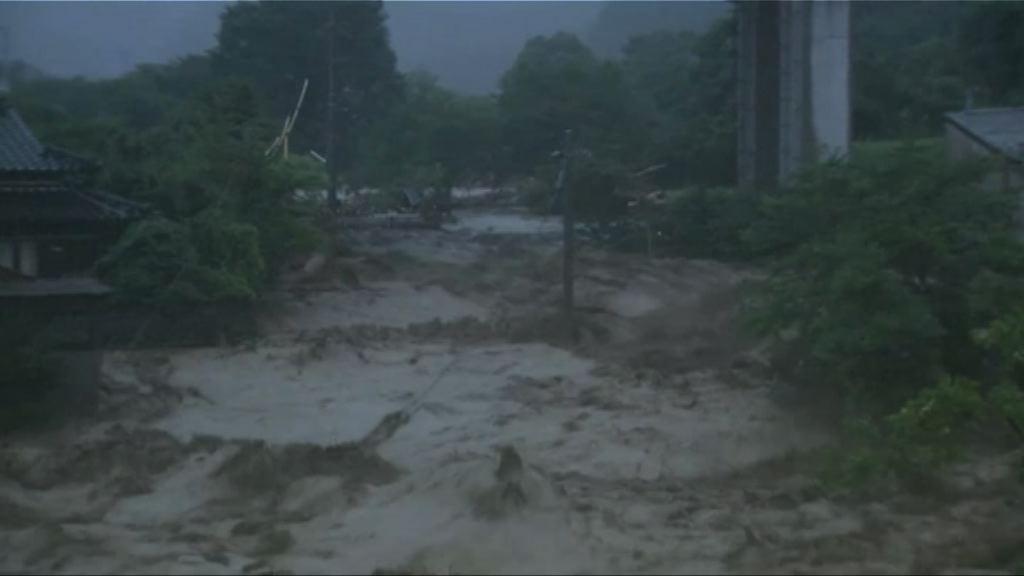 日本九州暴雨引發泥石流多人死傷