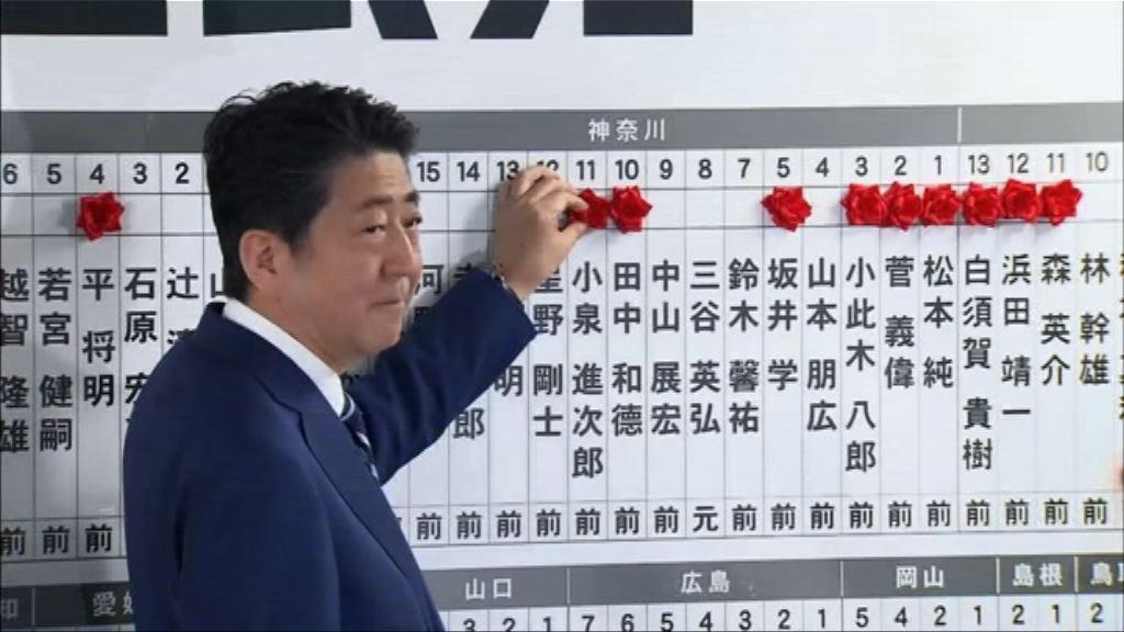 日本自民黨奪逾280席續成第一大黨