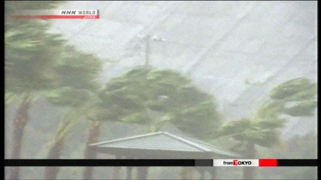 強颱風奧鹿吹襲九州 鹿兒島多處停電