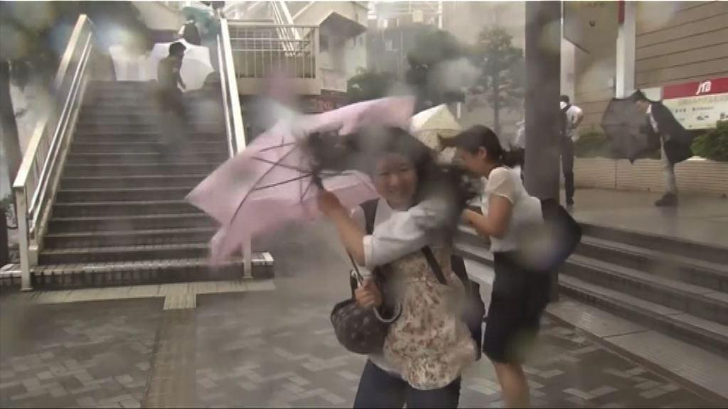 颱風南瑪都橫過九州登陸愛媛縣