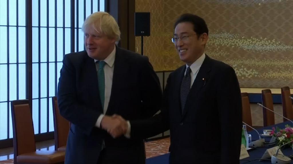 約翰遜訪日與外相討論北韓問題
