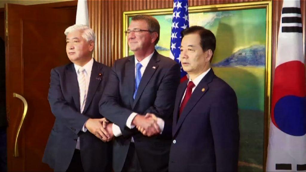 美日韓將舉行聯合演習 共享北韓情報