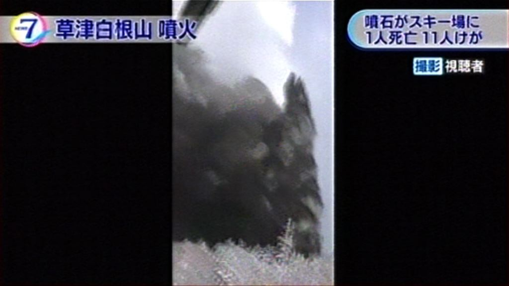 日本草津白根山噴發 當局提升火山警戒級別