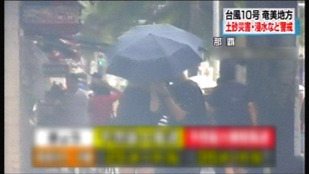 強烈熱帶風暴安比為日本南部帶來風雨
