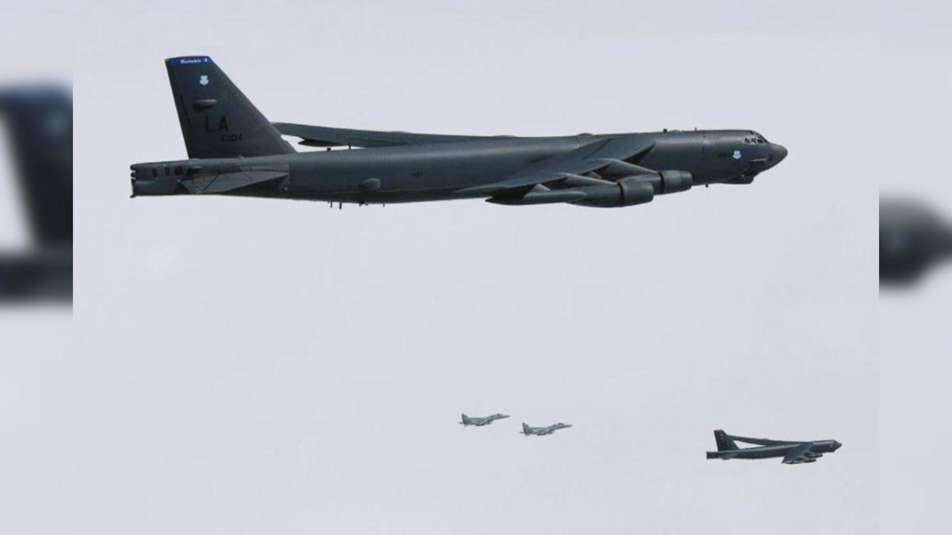 日本航空自衛隊與美國空軍舉行聯合訓練