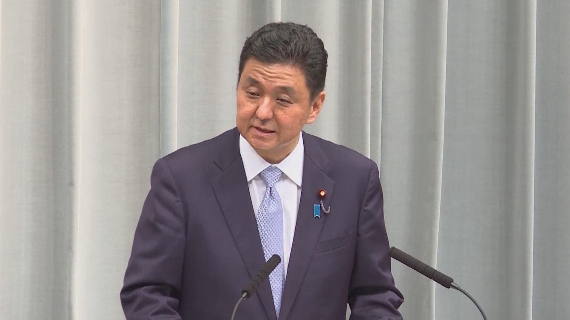 日本防衛相批中國單方面改變東海和南海現狀