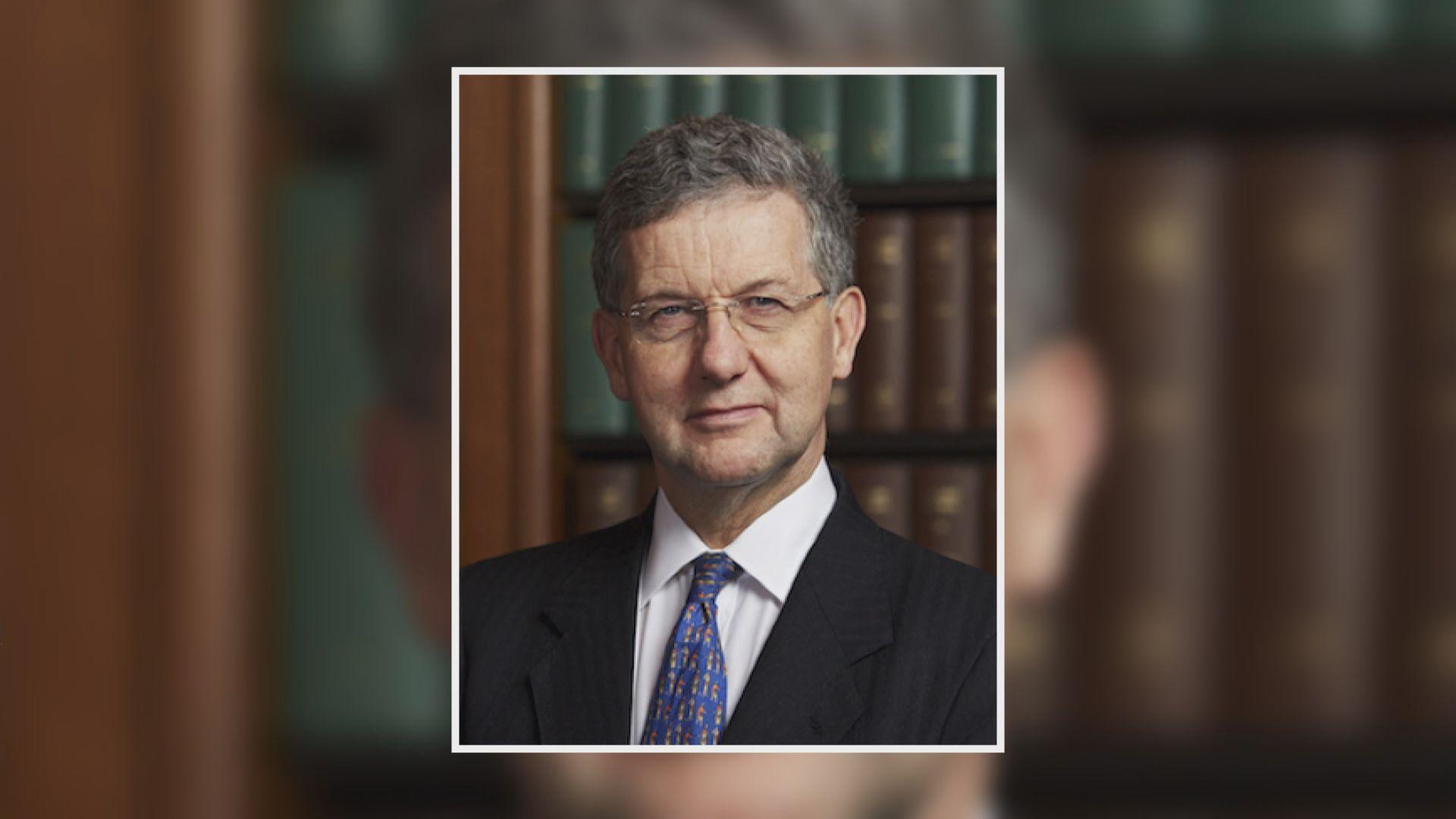 英最高法院副院長賀知義獲推薦為終院海外非常任法官