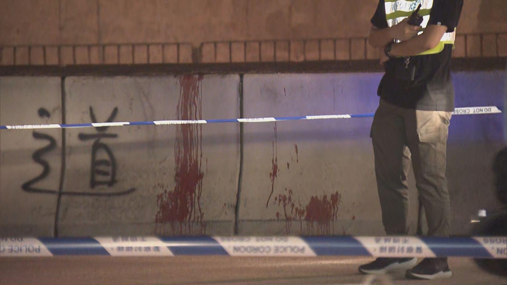 一名休班警員葵涌警署附近被斬傷送院