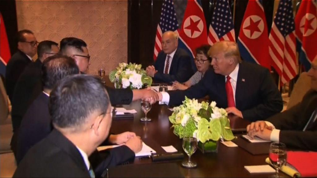 美朝峰會 單獨會談完結官員加入會議