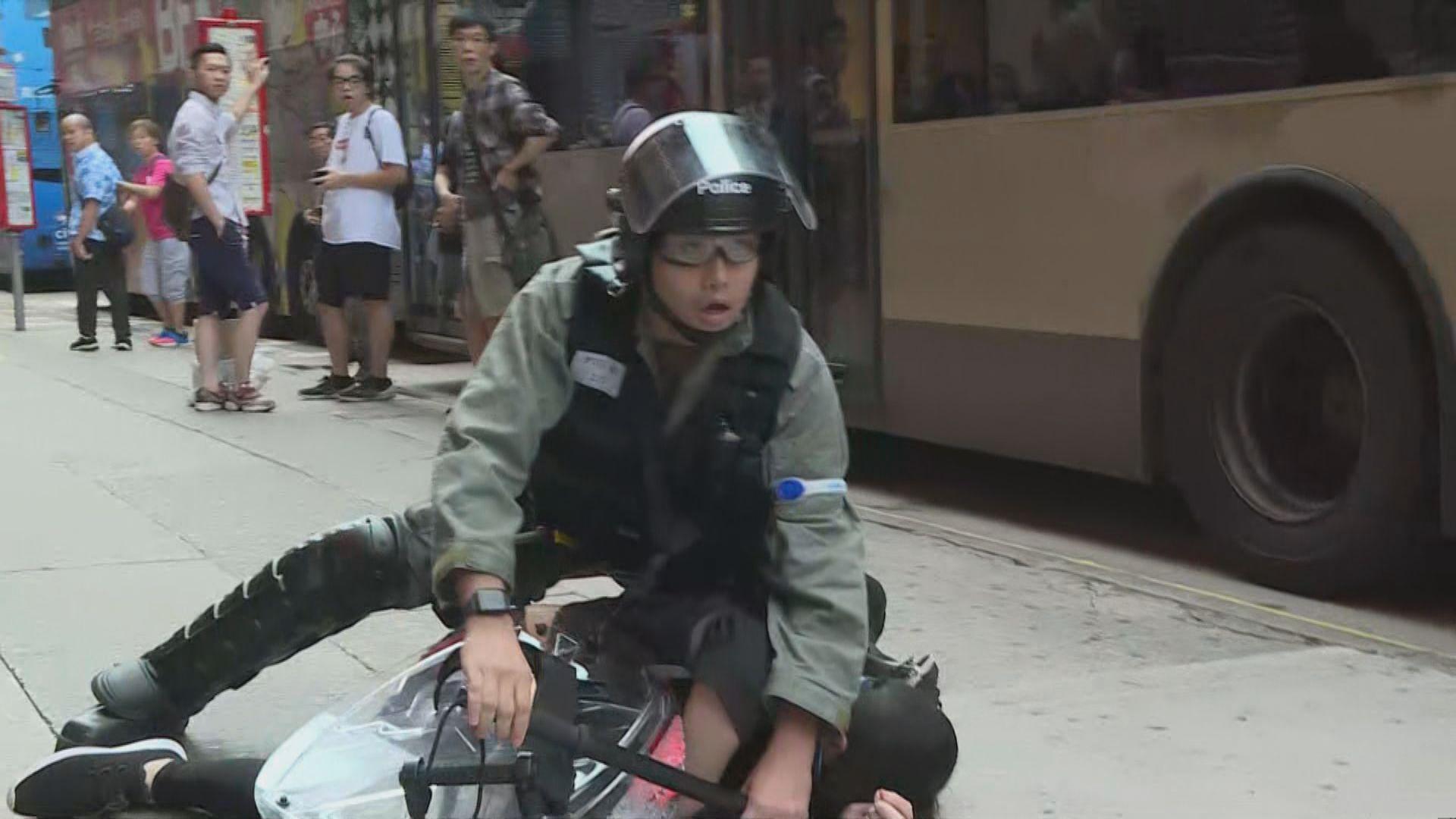 反對禁蒙面法集會 旺角最少兩人被制服