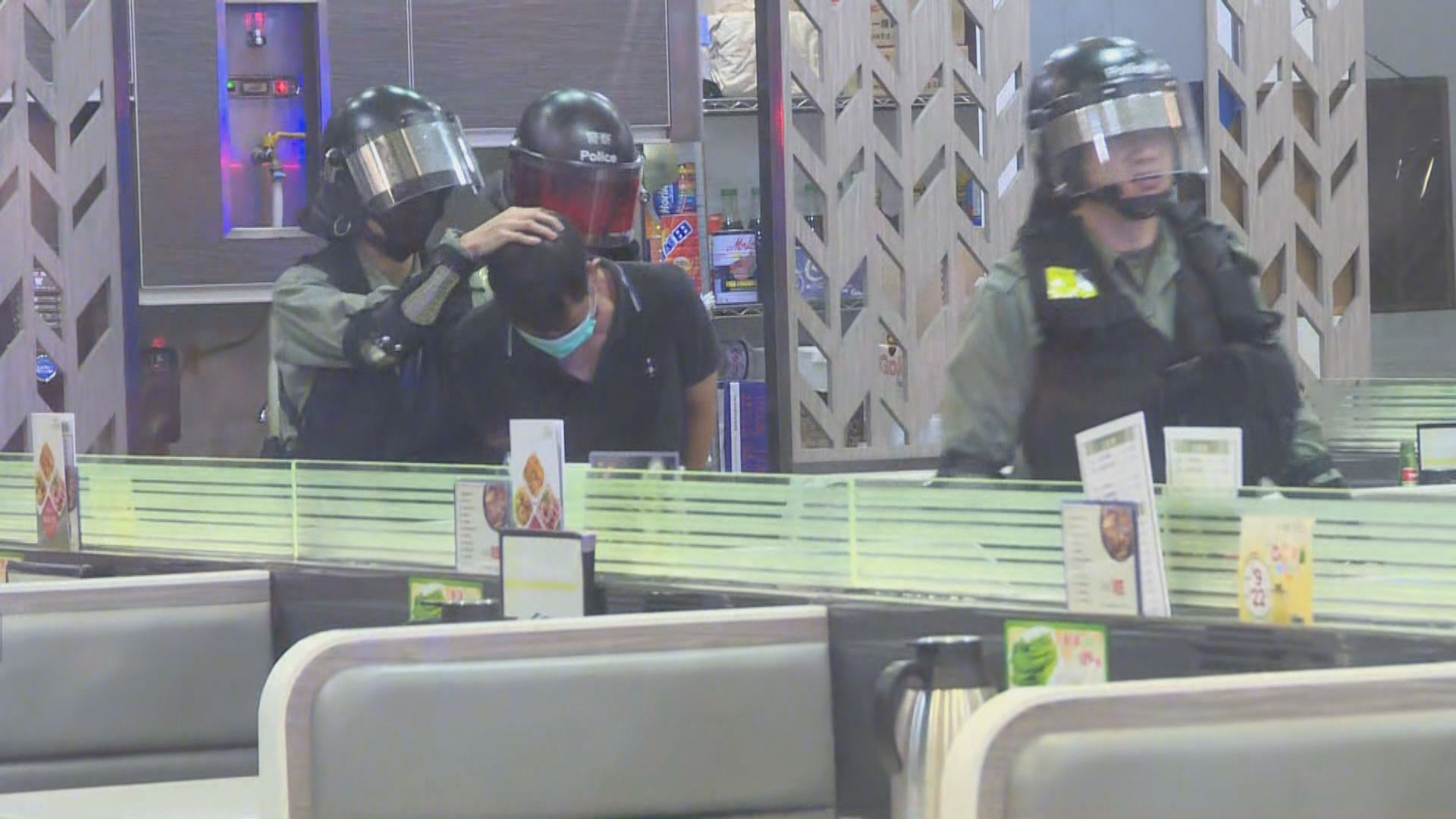 青山道餐廳有人闖入及持刀 一男子被制服拘捕