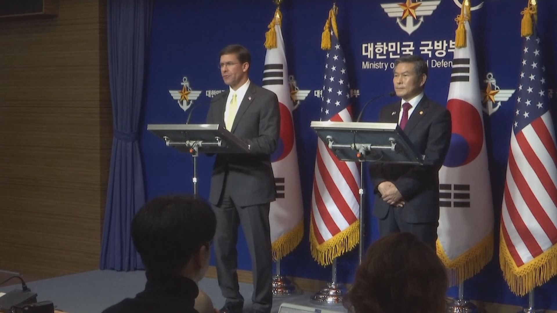 美國促南韓承擔更多防衛費用