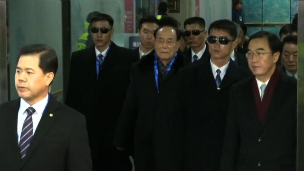 北韓高級別代表團抵達平昌
