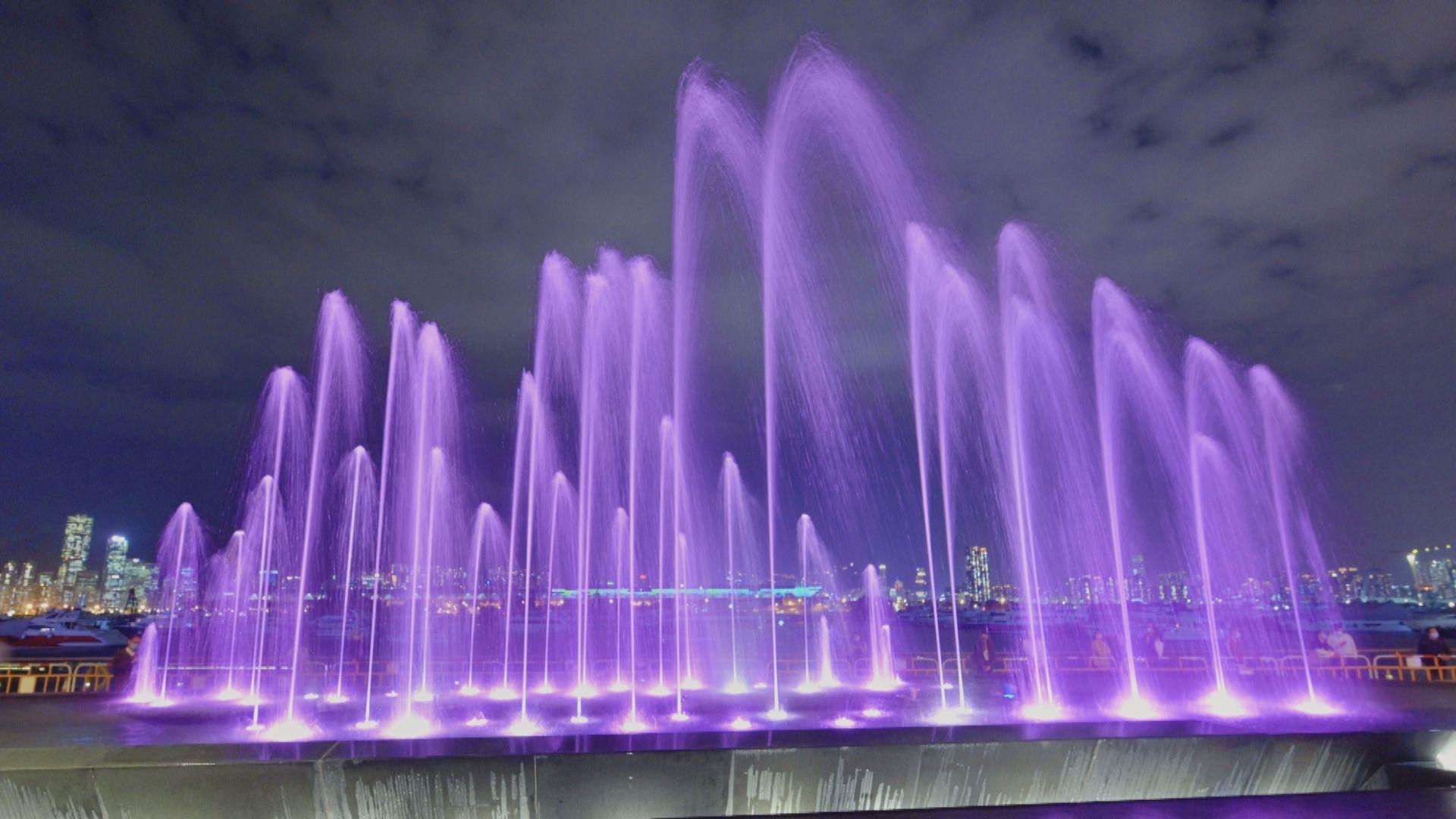 觀塘海濱音樂噴泉明啟用 每天有三至五節噴泉表演