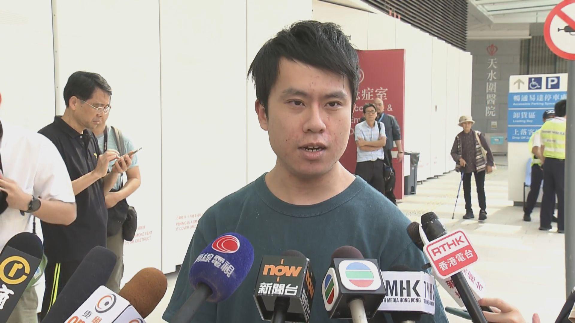 鄺俊宇指被三名男子圍毆 整個過程約一分鐘