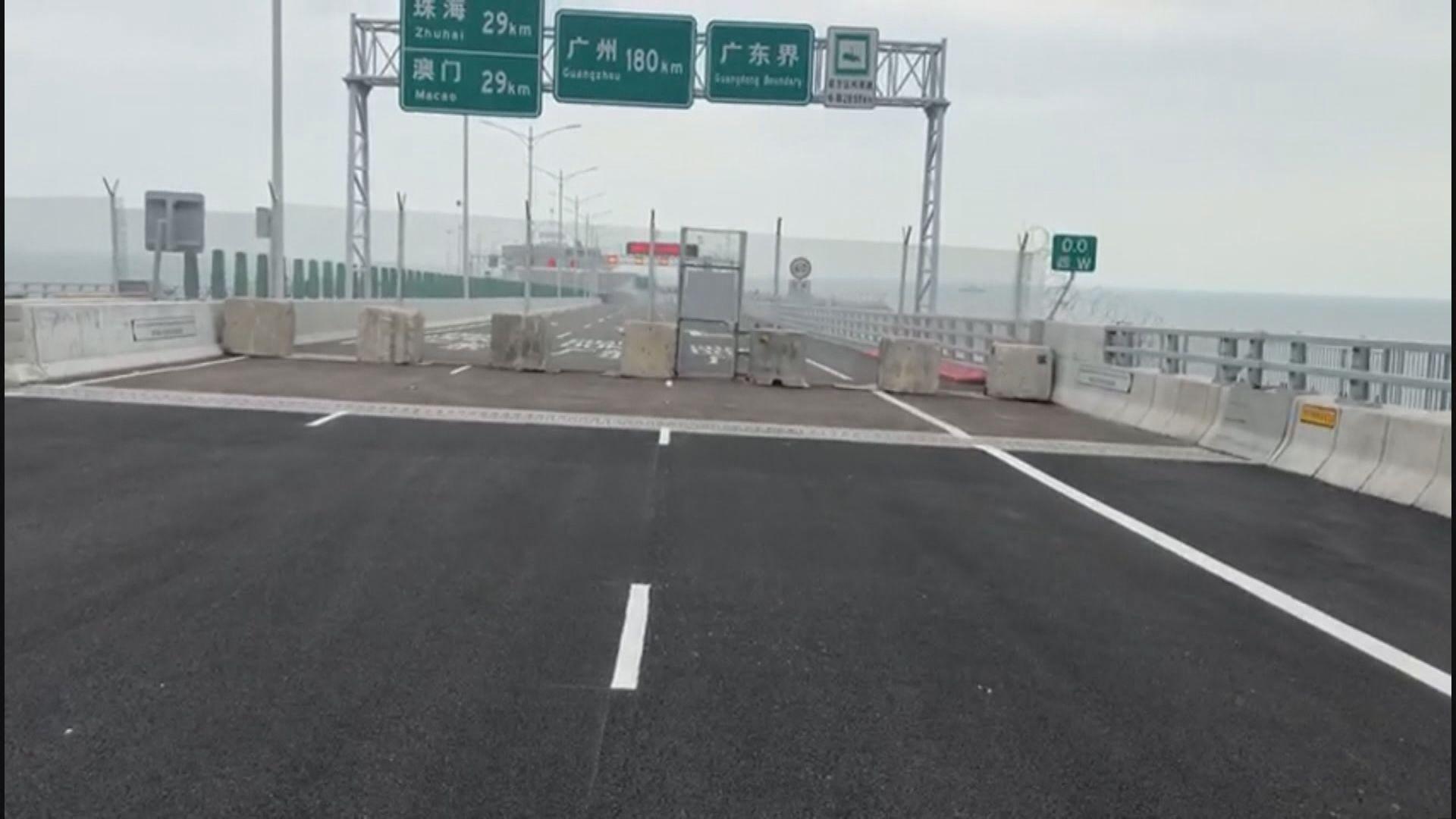 議員最後到達港珠澳大橋粵港分界線