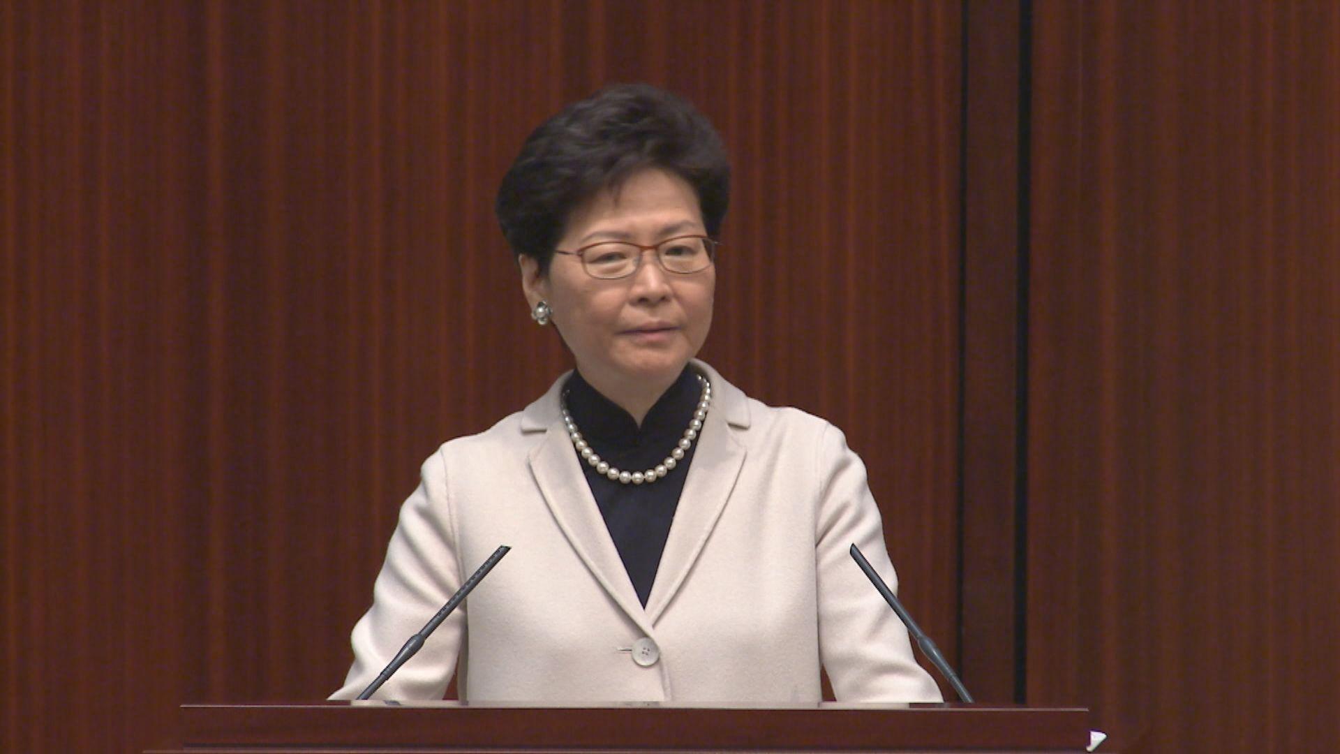 林鄭:香港非與大灣區其他城市惡性競爭
