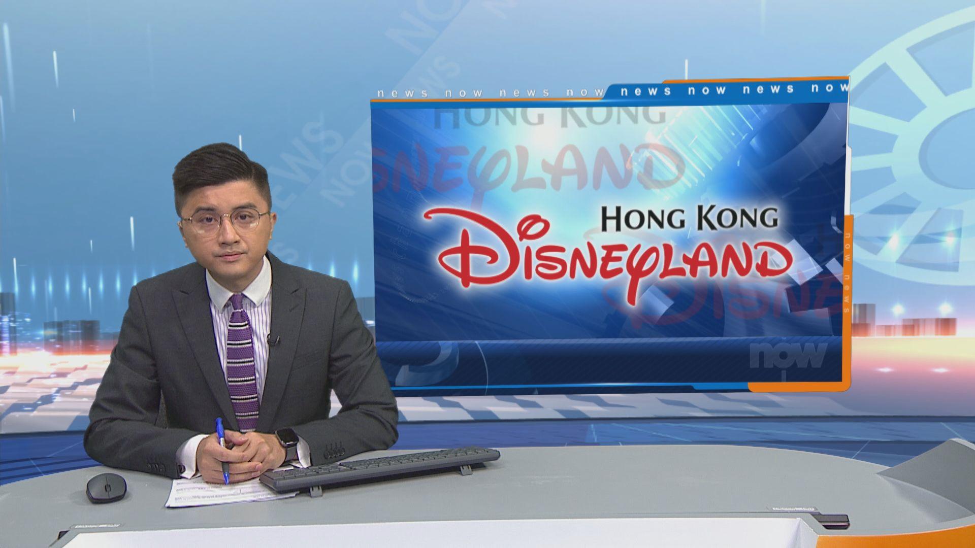 香港迪士尼18/19財政年度淨虧損約一億元