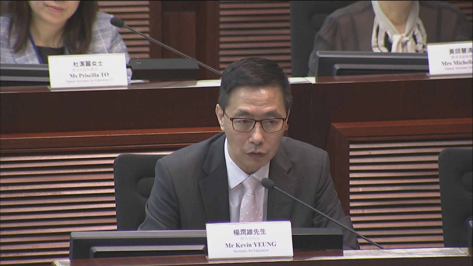 楊潤雄 : 教育局近期無再主動詢問中學戴口罩人數